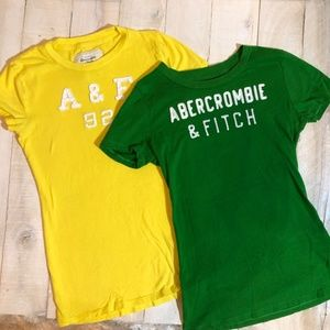 Abercrombie & Fitch tee shirt BUNDLE size Small